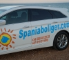 Spaniaboliger have put publisity on a new company car